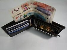 High Quality Gent's Leather Wallet with Coin pocket, BillFold RFID Protected