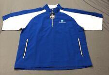 Foot Joy Golf 1/2 Zip SS Windshirt Pullover (L, Blue, Geometric)(NWT) MSRP $160