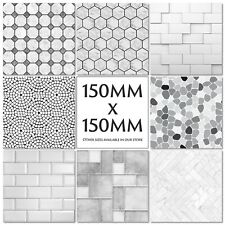 Grey Tile Stickers Decals Transfers Modern Pattern - Stone - Slate - Marble