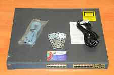 Cisco WS-C3560G-24TS-E Switch 24 10/100/1000 4 SFP w/ racks 6MthWtyTaxIn