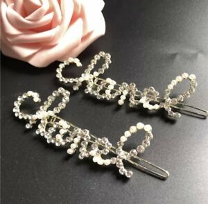 Chanel Design Bling Rhinestone Hair Clip in Gold