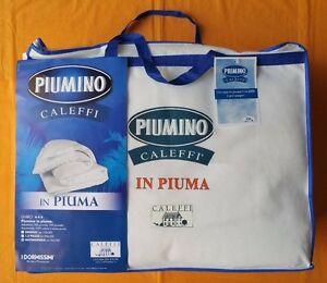 PIUMINO CALEFFI INVERNALE PIUMA D'OCA 100% SINGOLO MATRIMONIALE 1 PIAZZA E MEZZA
