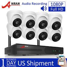Wireless Wifi Home Cctv Security Audio Recording Camera Ipc 1080P Hd 8Ch Nvr App
