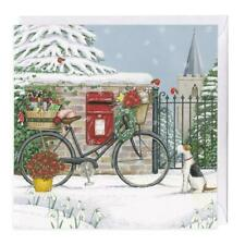 100% Recyclable Bicycle Delivery Christmas Card