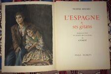 CHIMOT.Trois  ILLUSTRATIONS POUR L'ESPAGNE ET SES GITANS DE MÉRIMÉE. 1956