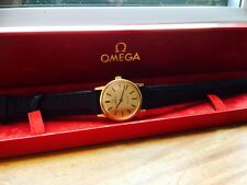 VINTAGE BOXED OMEGA DE VILLE WOMENS WATCH HAND WINDING CAL 625 GOLD