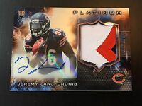 2015 TOPPS PLATINUM JEREMY LANGFORD ROOKIE RC RPA 3CLR PATCH AUTO SP !!