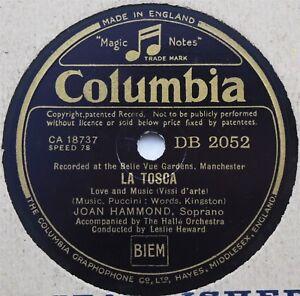 Joan Hammond - La Tosca / Gianni Schicchi - 78rpm Columbia DB2052