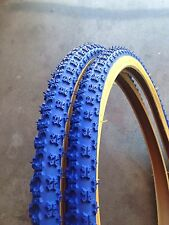 {2x} 26x1.75 Blue Gumwall Bicycle BMX Tires Comp3