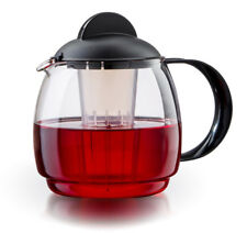 Trendglas Jena Teekanne Glas mit Sieb/Teebereiter/Mikrowellenkanne 1,8 L schwarz
