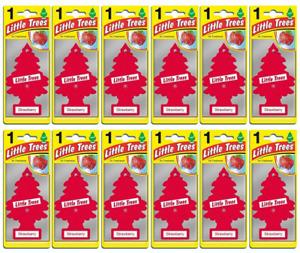 12 X Magic Tree Little Trees Car Air Freshener - Strawberry