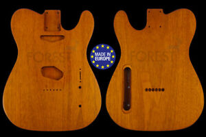 Tl rear routed style electric guitar body 1 piece Honduras mahogany, unique