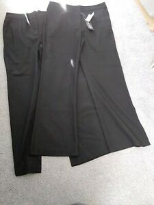 Brand New With lables On School Straight Leg Trousers age 11 pack of 2