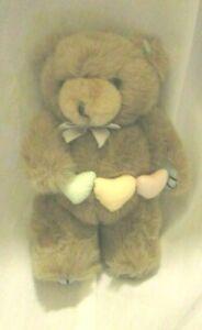 GIBSON GREETINGS 1987 TEDDY HUGGLESBIE PLUSH BEAR HEARTS VINTAGE Brown