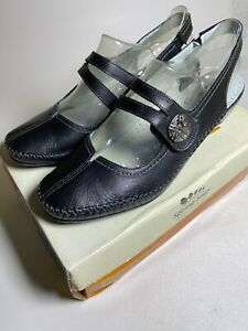 Spring Step Nickie Mary Jane Slingback Shoes Black NIB