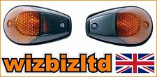 Motorcycle Fairing Indicators - Flush Mount Black with Amber Lens - INDFBLK