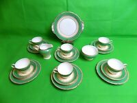 Aynsley Green / Cream / Gold Tea Set of 21 Pieces