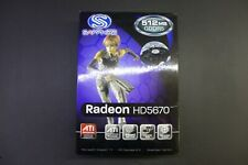 Sapphire ATI Radeon HD5670 Graphics Card GPU | 512MB GDDR5 PCI-E | VGA DVI HDMI
