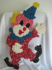 Vintage Melted Plastic Popcorn Clown 20.5 x 11.5