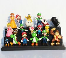18 pcs/set Super Mario Bros PVC Action Figure Toys Dolls Mushroom Donkey  gift