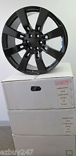 "24"" NEW GMC CHEVY ESCALADE FACTORY STYLE BLACK WHEELS RIMS SET OF FOUR 5409"