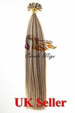 "22"" 1g 7A* Double Drawn Indian Remy Nail-Tip Human Hair Extension UK 1st"