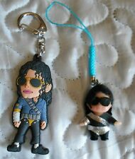 MICHAEL JACKSON OFFICIAL DANGEROUS KEYRING & HISTORY JEWEL FROM JAPAN