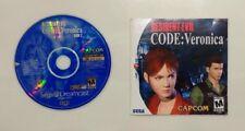 Resident Evil -- CODE: Veronica (Sega Dreamcast, 2000) ONLY DISC 2 & MANUAL