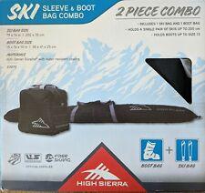 High Sierra Ski & Boot 2 Pc Bag Bundle Combo Water-Resistant Black 53875-1050