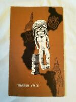 "TRADER VIC'S Vintage TIKI Restaurant Menu 1963 Measures 9 1/2"" x 15"" Great RARE"