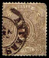 1866-67 Belgium #26b Coat Of Arms - Used - Fine - Cv$90.00 (Esp#2258)