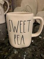 Brand new! Rae Dunn Sweet Pea Mug Large Letter Farmhouse HTF Valentine's Day HTF