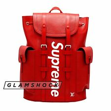 AUTHENTIC Louis Vuitton x SUPREME CHRISTOPHER Backpack Red Epi Leather Monogram