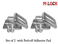 """Desktop Anchor Plate for Computer Security Cable Lock """"Screw & Glue"""" 2 Sets New"""