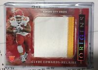 Clyde Edwards-Helaire 2020 Panini Origins RED Rookie Jumbo 3-Clr Patch RC 02/75