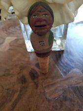 Anri Like Yakker Woman Wood Wooden Mechanical Bottle Stopper