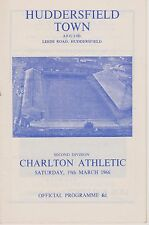 HUDDERSFIELD TOWN v CHARLTON ATHLETIC 65-66 LEAGUE MATCH