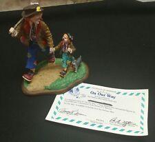 danbury mint barnum's classic clowns on our way 1994 figurine