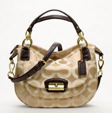 NWT COACH KRISTIN OP Signature Khaki/Brown Sage Satchel Shoulder Bag Purse NEW