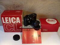 """Leitz Wetzlar - Leica CL Kit Elmar- C 1:2/90mm """"Fullset aus Sammlung"""" - RAR!"""
