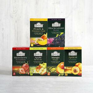 Ahmad Tea London Flavored 20 Individual Wrapped Tea Bags