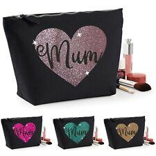 MUM PERSONALISED MAKE UP BAG Glitter Christmas Birthday | Mothers Day Gift