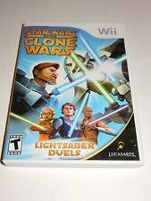 Star Wars: The Clone Wars - Lightsaber Duels (Nintendo Wii, 2008) COMPLETE
