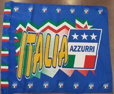 BANDIERA CALCIO ITALIA AZZURRI FLAG DRAPEAU ITALY STADIO TIFOSO VINTAGE GARA B10