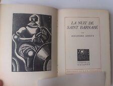 Alexandre Arnoux La nuit de St Barnabé Gravures Galanis 800ex numéroté
