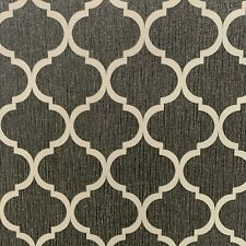Debona Crystal Trellis Wallpaper Glitter Black Silver Metallic Geometric FEATURE