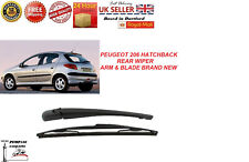PEUGEOT 206 HATCHBACK 1998-2012 REAR WIPER ARM & BLADE WINDSCREEN NEW 350MM