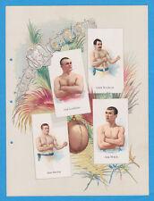 1887 A16 Allen & Ginter World's Champions ser 1 album page Boxing w/ KILRAIN, SM