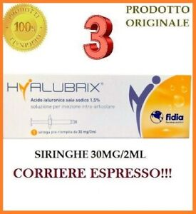 NUOVA HYALUBRIX FIDIA SIRINGA PRERIEMPITA 30MG/2ML TOTALE: 3 SIRINGHE!!!