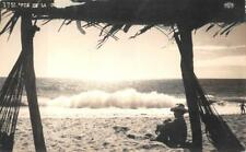 RPPC MEXICO PIE DE LA CUESTA BEACH VIEW REAL PHOTO POSTCARD (c. 1940s)